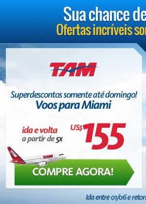 TAM para Miami a partir de 5x de 155 dólares